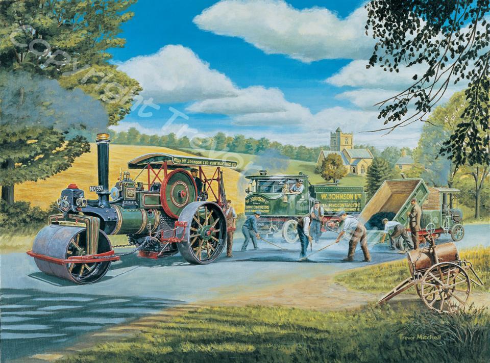 Trains Transport Trevor Mitchell Artist
