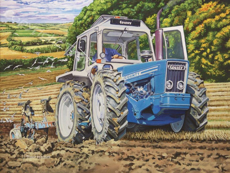 County Tractor Ploughing 18x24 inch oil on canvas, £395.