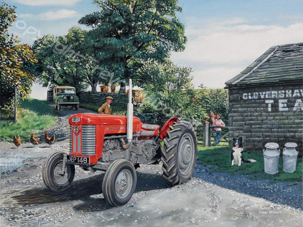 Massey Ferguson 65 18x24 inch oil on canvas, £395.