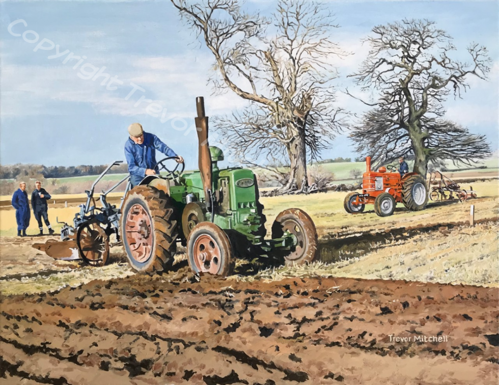 Field Marshalls at a Ploughing Match. 14x18 inch oil on canvas, £325.