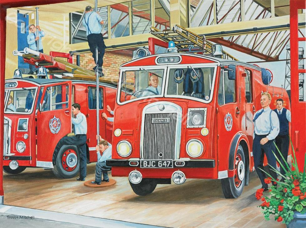 The Fireman. 18x24 inch oil on canvas, £295.