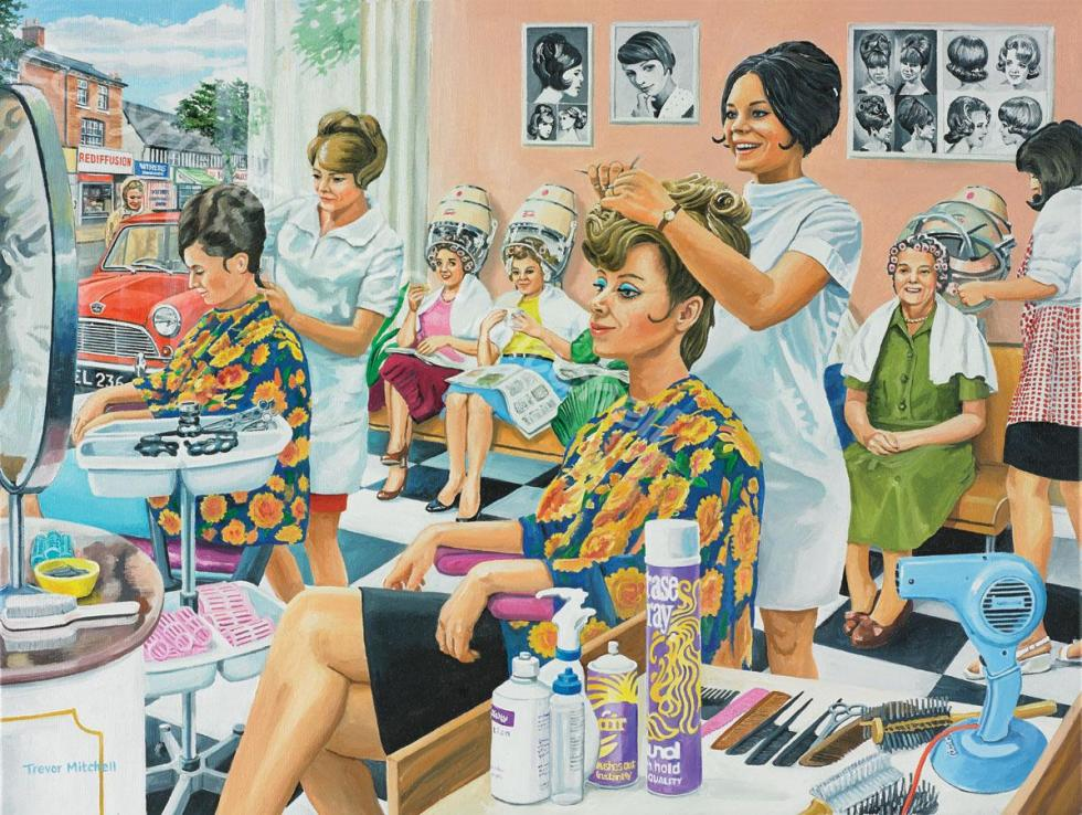 The Hairdresser. 18x24 inch oil on canvas, £295.