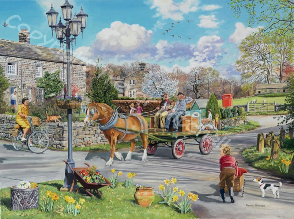 Village Scenes Trevor Mitchell Artist