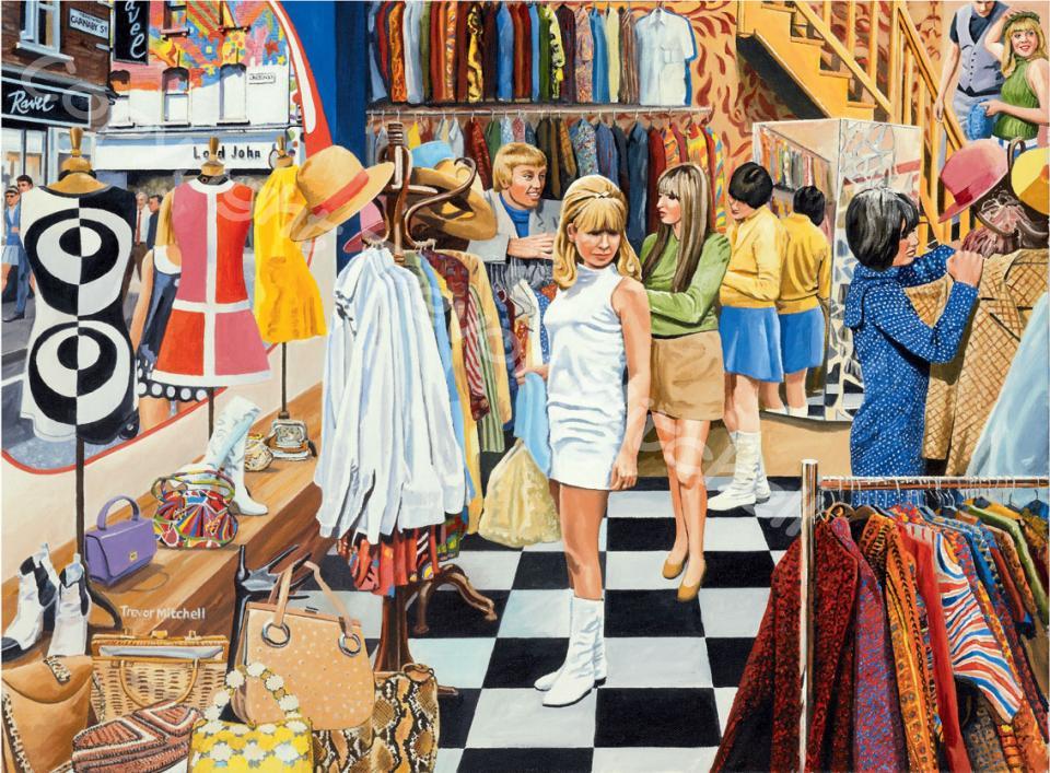 Shops Cafes Street Scenes Trevor Mitchell Artist